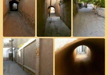 کوچه های منتهی به خانه تاریخی توسلیان